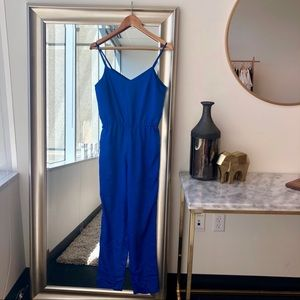 Topshop Royal Blue Jumpsuit
